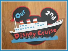 super cute disney cruise door decoration - could do something saying it's our first and mom's birthday!
