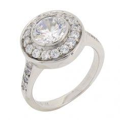 Silverring 2,5ct diamantsimulant