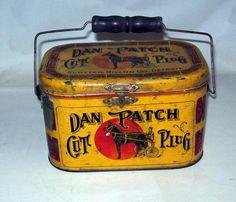 Antique Dan Patch Lunch Box Tobacco Tin. $195 on GoAntiques. #vintage #antique #lunchbox