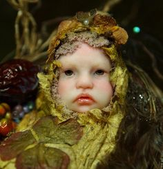 Fairy Baby on Nest Handsculpted OOAK Art Doll por NenufarBlanco, €55.00
