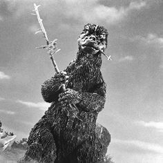 """Godzilla this should read the caption.""""eat your vegetables"""" .and should be worn by every mum and school dinner lady across the globe.would end child vitamin deficiency probs in no time Old Posters, Japanese Monster, Horror Monsters, Scary Monsters, Jedi Sith, Famous Monsters, Legendary Monsters, Classic Monsters, King Kong"""