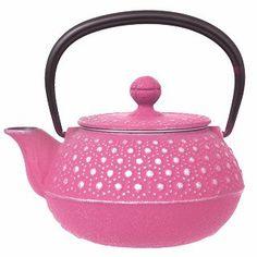 Nambu Cast Iron Tea Pot, 'Mimoza' Pink
