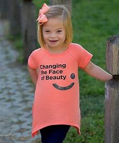 Loving this Freckles + Kitty Coral 'Changing the Face of Beauty' Sidetail Tee - Girls on Kindness Pictures, Down Syndrome Awareness Day, Kindness For Kids, Kindness Ideas, Cute Kids, Cute Babies, Open Adoption, Baby Presents, Baby Gifts