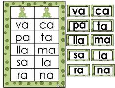 Aprendiendo a leer silabas con a