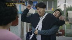 Episode Junghwan almost flailing when Dukseon uses him as a shield from her mom Ryu Joon Yeol, When Life Gets Hard, Hyeri, First Love, My Love, My Youth, Episode 3, Little Sisters, Korean Drama
