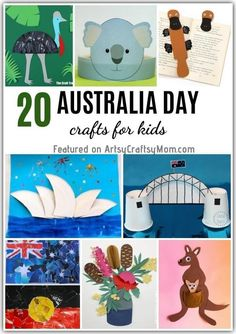 Celebrate the varied culture, monuments, flora and fauna of Australia with these simple Australia Day Crafts for Kids! Includes koalas, kangaroos and more! Australia Kids Crafts, Australia For Kids, Australia Day Craft Preschool, Kangaroo Craft, Australia Day Celebrations, Koala Craft, Aus Day, Chinese New Year Activities, Cultural Crafts