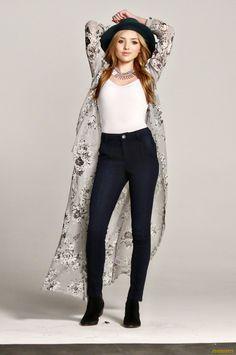 white black blue jeans jacket hat
