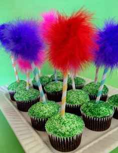 Earth Day Truffula Tree Cupcakes Recipe