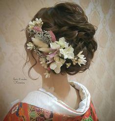 Evening Hairstyles, Up Hairstyles, Wedding Hairstyles, Wedding Images, Wedding Styles, Wedding Kimono, Japanese Wedding, Hair Arrange, Hair Setting