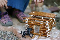 Pretzel log cabins- Mack would eat these up. Literally.