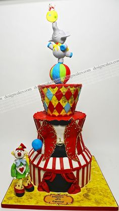 Circus / clowns / carnival birthday cake!