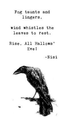 Happy Halloween! Enjoy this haiku I wrote last year!   #nisipoesy #halloween #haiku