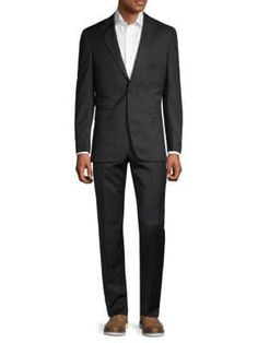 Michael Bastian Trim-fit Wool Tuxedo In Black Michael Bastian, Legs Open, Welt Pocket, Tuxedo, Suit Jacket, Mens Fashion, Wool, Long Sleeve, Fitness