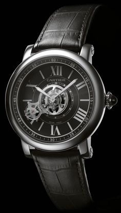 Cartier has introduced its Astrotourbillon Carbon Crystal Watch, and it's a beauty. While many concept watches never become reality, based on the Cartier ID One Concept watch from the Astrotourbillon has emerged. Dream Watches, Fine Watches, Luxury Watches, Cool Watches, Watches For Men, Men's Watches, Patek Philippe, Devon, Rolex