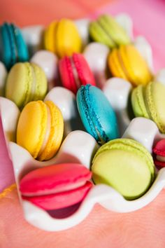 colorful macarons by Anges De Sucre, things that remind me of Paris..