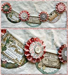 Paper banner made using scrapbook paper and free vintage label Printables Fall Banner, Diy Banner, Paper Banners, Pennant Banners, Scrapbooking, Scrapbook Paper, Make Your Own Banner, Balloon Banner, Bunting Garland