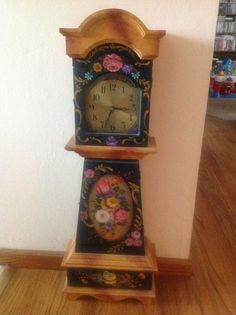 Granddaughter Clock, design by Nadine Fillipucci-Oliver, painted by me.