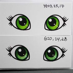 Whimsie Doodles Digital Stamps: Tuesday Tutorial-Colouring Eyes with Copics
