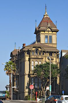 The Westerfeld House on Alamo Square in San Francisco, CA is an excelent example of the Gothic Revival/Carpenter Gothic style Victorian home.