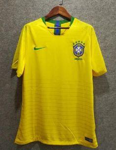 bf92cf7c1 2018 Men Brazil Jersey Stadium Home Soccer Jersey World Cup Jersey Fanatics