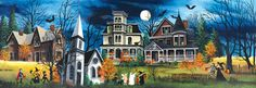 Spooky Lane Jigsaw Puzzle | Halloween & Fall | Vermont Christmas Co. VT Holiday Gift Shop
