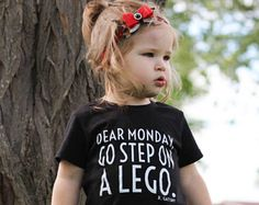 Kids Graphic Tee, Gender Neutral Baby Clothes, Lego Shirt, Monday Shirt, Funny Kids Shirts, Cool Kids Clothes, Trendy Kids Clothes