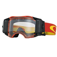 Oakley Airbrake MX Off-Road Race-Ready Goggles - Retro Speed - Red-White/Clear Lens - Extreme Supply