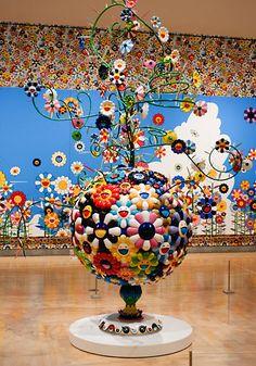 Takashi Murakami ( shades of Nicki St Phalle ?)
