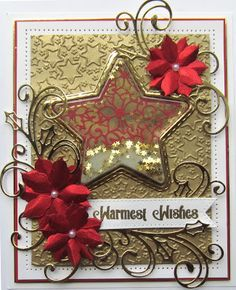 Hi crafters! The next die for your perusal is the Poinsettia Star die set. This set has also been designed to fit the new star treat c... 17/06/2017.
