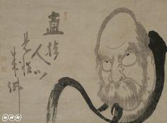 白隠慧鶴「半身達磨」(ドラッカー・コレクション)経営学の父、ピーター・ドラッカー(1909-2005)は、長年にわたる日本美術の熱烈なファンでありコレクターだった。半世紀にわたって集めた日本美術コレクションは二百点あまり、その大部分が、室町時代の山水画や江戸時代の禅画、文人画などの水墨画である。ドラッカーは70歳の頃、『日本美術へのラブレター』という評論を著した。「私は日本美術と恋に陥ってしまった」という告白で始まり、「日本美術を恋する者には尽きない喜びがある」と終わるドラッカーの『日本美術へのラブレター』。そこには、日本美術が自分の人生にいかに大切なものだったか、という個人的体験とともに、日本美術が世界的に見ていかに優れたものか、という独創的見解がつづられている。 番組では、ドラッカーのコレクションを『ラブレター』の朗読とともに紹介、作品収集の裏にあるドラッカーの日本美術にまつわる人生と思想を明らかにする。