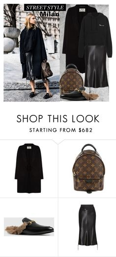 """""""Pernille Teisbeak ...Major Street Style"""" by dragananovcic ❤ liked on Polyvore featuring Acne Studios, Louis Vuitton, Gucci, Alexander Wang and Vetements"""