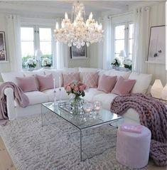 Fancy Living Rooms, Romantic Living Room, Glam Living Room, Comfortable Living Rooms, Classic Living Room, Living Room Decor Cozy, Elegant Living Room, Home Living, Living Room Designs