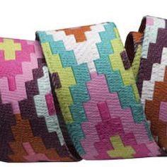 Amy Butler - Amy Butler Ribbons - Spirit Weave in Pink Rust and Aqua