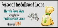 If you are looking for personal loans which you can repay back in small installments, then Personal Installment Loans are here to help you. These loans offer quick financial assistance to tackle your urgent needs. You can borrow the loan amount within 24 hours even though the borrower have bad credit history. So apply today! http://www.loansinstallment.net/personal_installment_loans.html