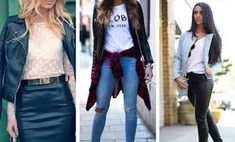 Image result for leather jacket outfits