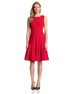 Calvin Klein Women's Sleeveless Solid Fit-and-Flare Dress Dream Dress, I Dress, Fit Flare Dress, Fit And Flare, Calvin Klein Dress, Cool Outfits, Dressing, Dresses For Work, Free Shipping
