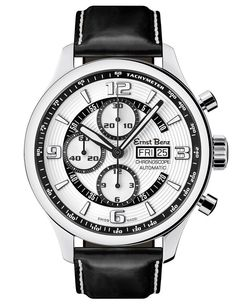 Ernst BENZ Mens Watch Chronoscope Contemporary White Dial for sale online Dream Watches, Cool Watches, Swiss Made Watches, Expensive Watches, Watch Model, Luxury Watches For Men, Automatic Watch, Watch Brands, Stainless Steel Case