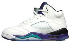 Authentic Air Jordan V Retro White purple grapes , shopping online  $215 - www.hats-malls.com
