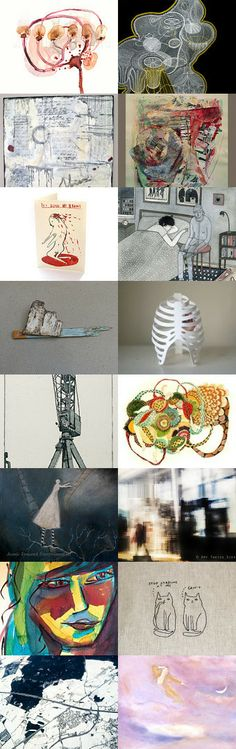 using up brain cells of revisited  by jill emery on Etsy. 'indelible meandering'.