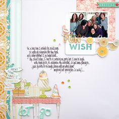 Layout created by Stacey Michaud using the CELEBRATE kit.