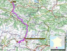 Biketrips en France: 4/8 - L'Hospitalet-près-l'A. - Foix - 100km - Tarn Pyrénées Gascogne Atlantique