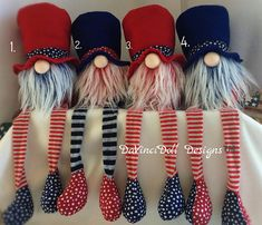 RED WHITE &CUTE Collection by DaVinciDoll Designs patriotic