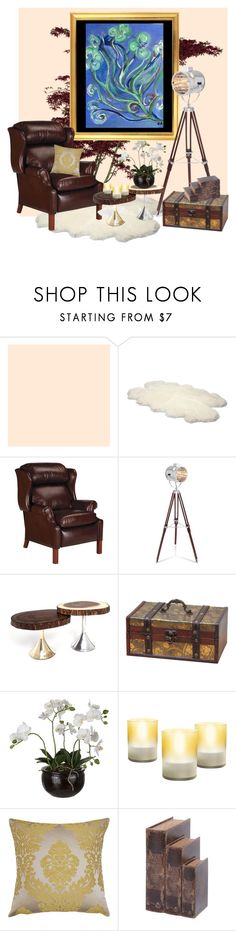 """""""One of my paintings!!"""" by chalsouv ❤ liked on Polyvore featuring interior, interiors, interior design, home, home decor, interior decorating, UGG Australia, Ethan Allen, Trunk LTD and Sia"""