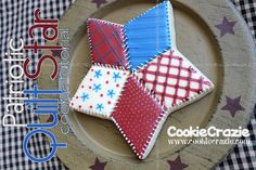 Patriotic Quilt Star (Tutorial)  http://www.cookiecrazie.com/2012/06/patriotic-quilt-star-tutorial.html#
