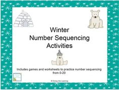 This math packet includes 5 activities to practice number sequence. Activities include find the missing number, a board game focusing on what number comes next, number cards to 30, counting by 10's to 100, and worksheets to fill in the missing number.