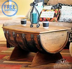 Barrel Coffee Table. Beautiful but yikes expensive