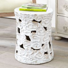 Wisteria - Furniture - Shop by Category - Poufs & Stools - Ceramic Cumulus Stool Thumbnail 2