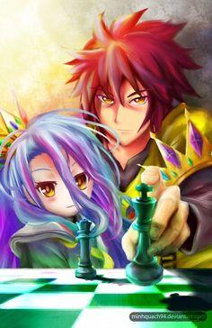 Tags: Anime, Minhquach94, No Game No Life, Shiro (No Game No Life), Sora (No Game No Life)