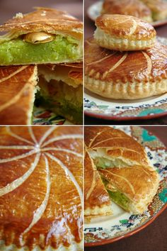 galette with pistachio paste! Bakery Recipes, Cookbook Recipes, Dessert Recipes, Cooking Recipes, Fall Recipes, Sweet Recipes, Quiche, Everyday Food, Fabulous Foods