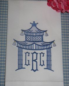 Shield Monogram Embroidery Font